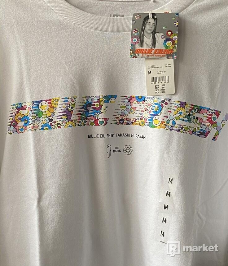 BILLIE EILISH TAKASHI MURAKAMI tričko biele