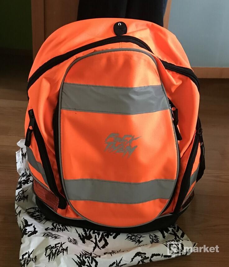 f*ck them neon orange batoh
