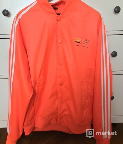 Adidas Pharrell Williams Mens Track Bomber Jacket Orange