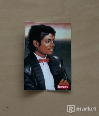 Michael Jackson × Supreme Sticker
