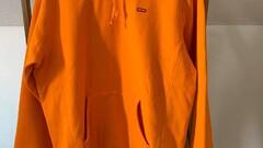 Supreme small box logo hoodie orange