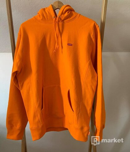 Supreme small box logo hoodie orange