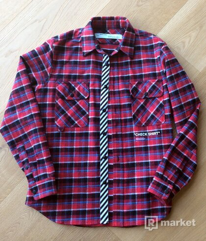 "Off-White  ""Check Shirt""  flannel shirt"