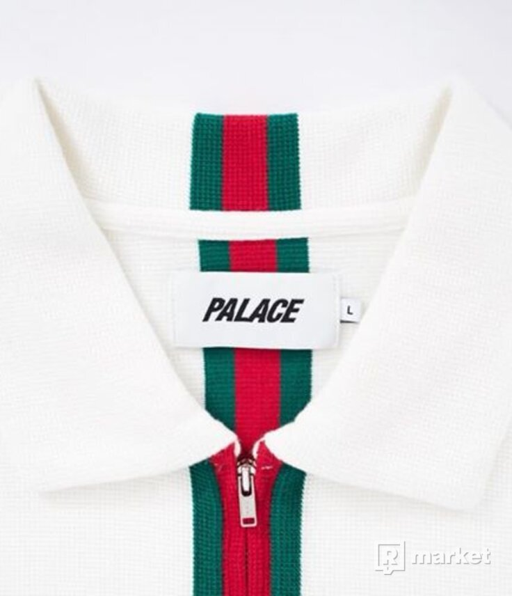 Palace VERTICAL WEAVE ZIP POLO