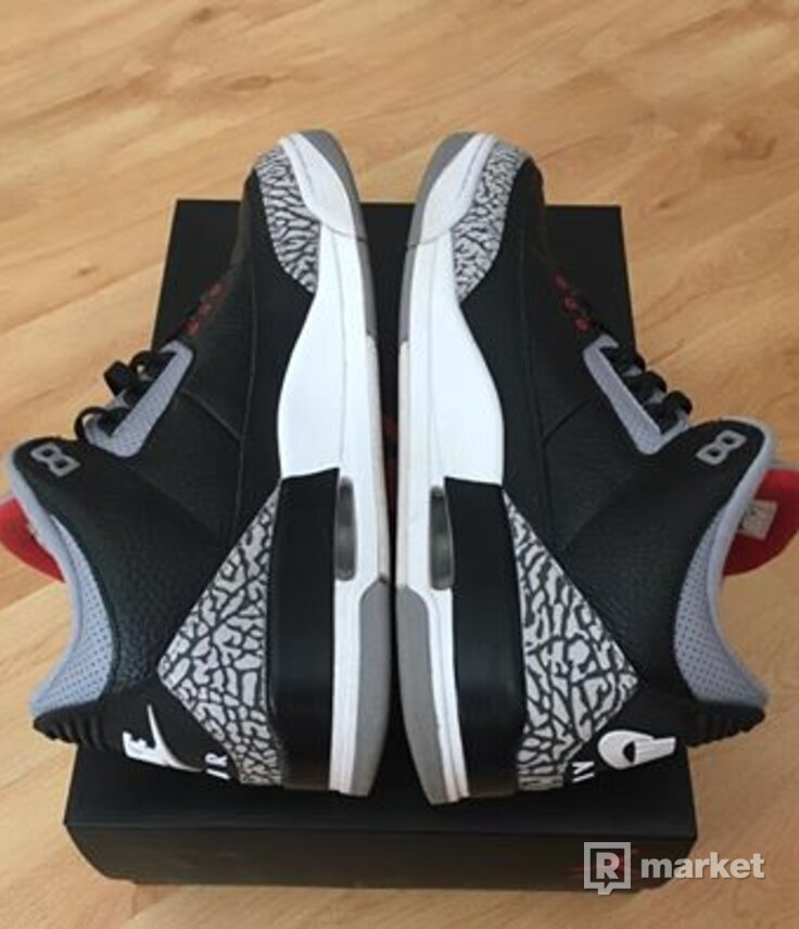 Nike Air Jordan 3 Black Cement OG