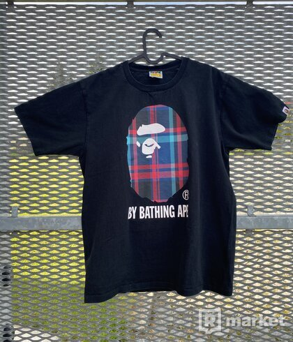 Bape check tee black/navy