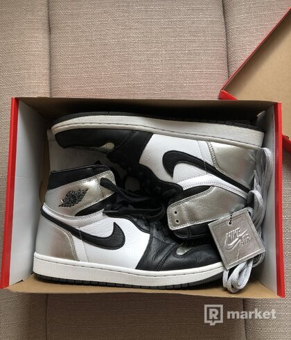 Jordan 1 retro og silver toe