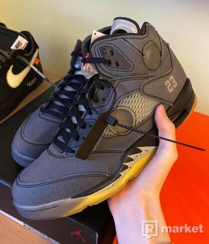 Nike Air  Jordan 5 x Off White Black