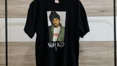 Supreme x Nas tričko