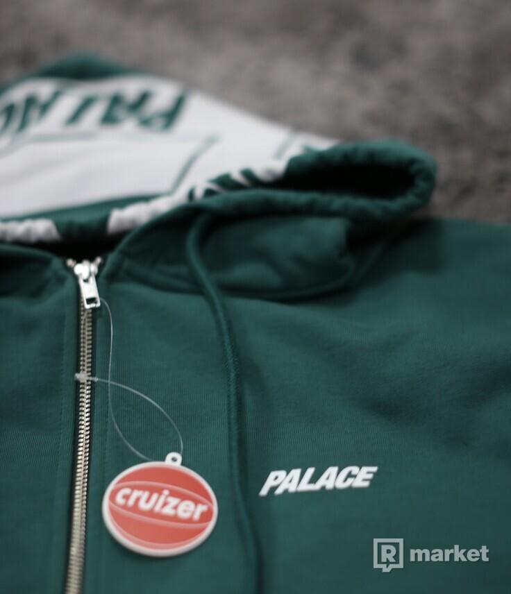 Palace Big Tri-Ferg Zip Hoodie Green