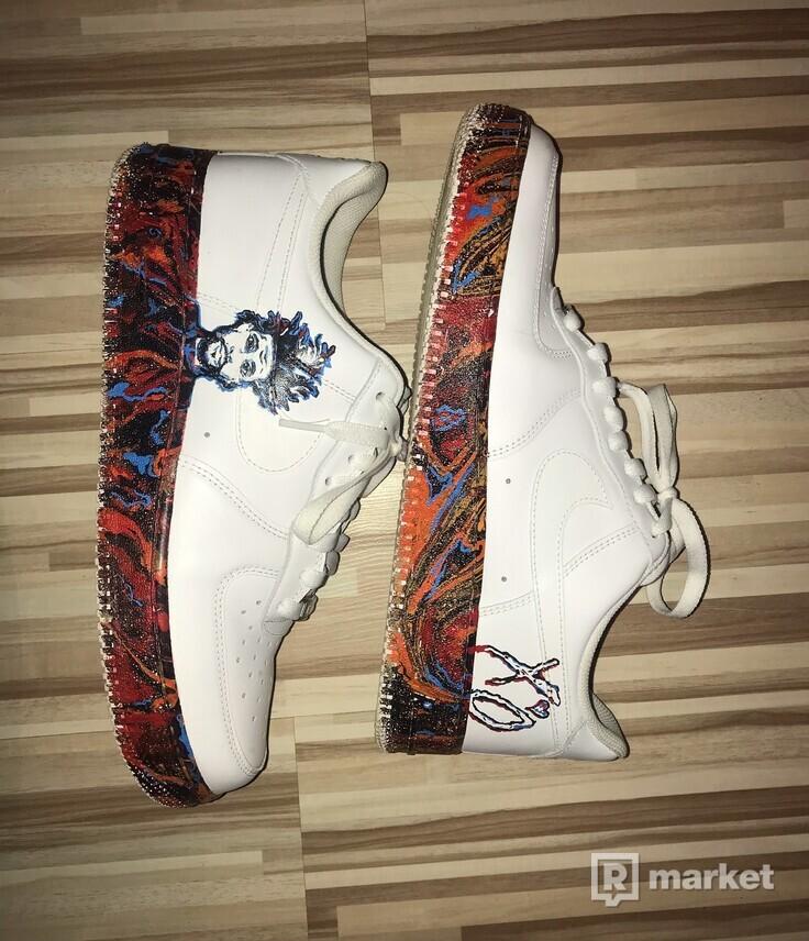 Custom Nike Air Force One (The Weeknd)