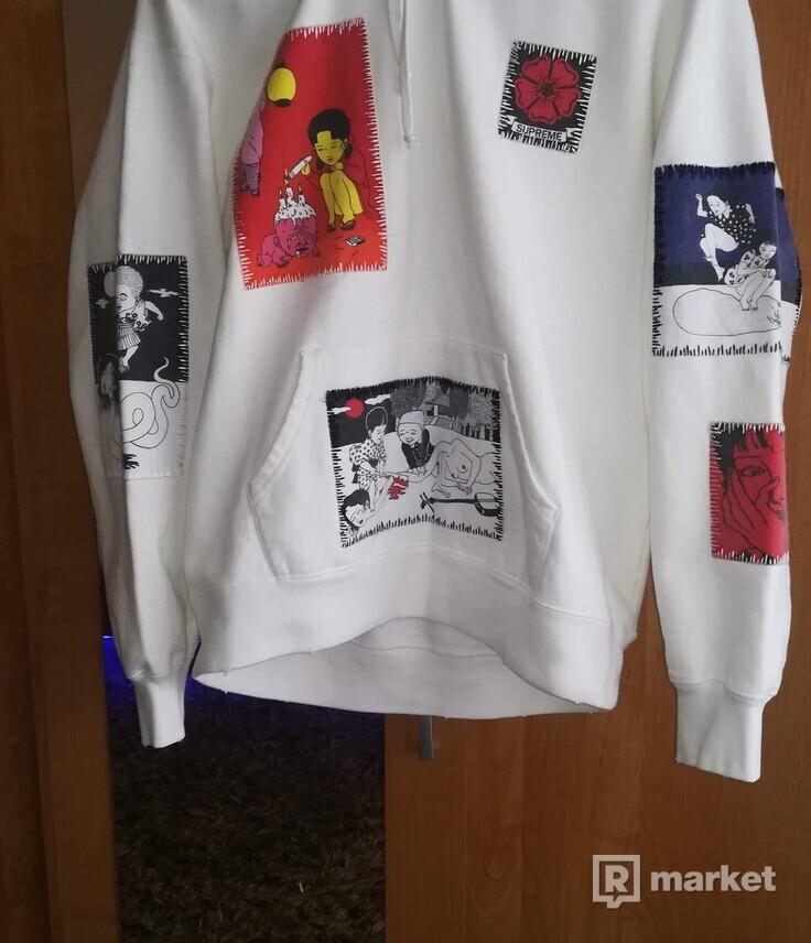 Supreme Toshio Saeki Hooded Sweatshirt White