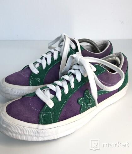 Converse One Star X Golf le Fleur Purple Heart/jolly green