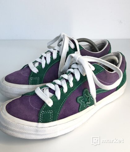 Converse One Star X Golf le Fleur Purple Heart/jolly green