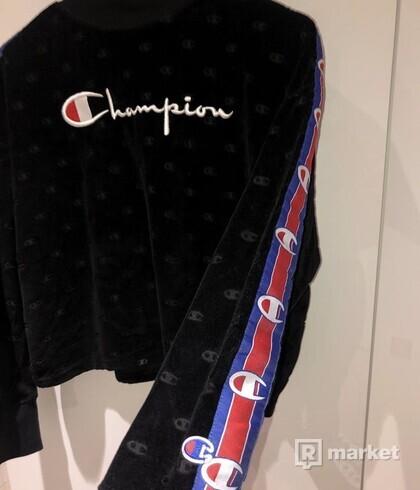 Čierna Champion mikina s rolákom / high neck sweatshirt
