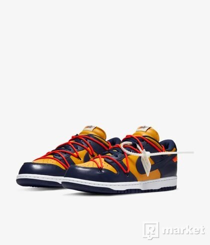 "NIKE DUNK LOW OFF-WHITE ""UNIVERSITY GOLD MIDNIGHT NAVY"""