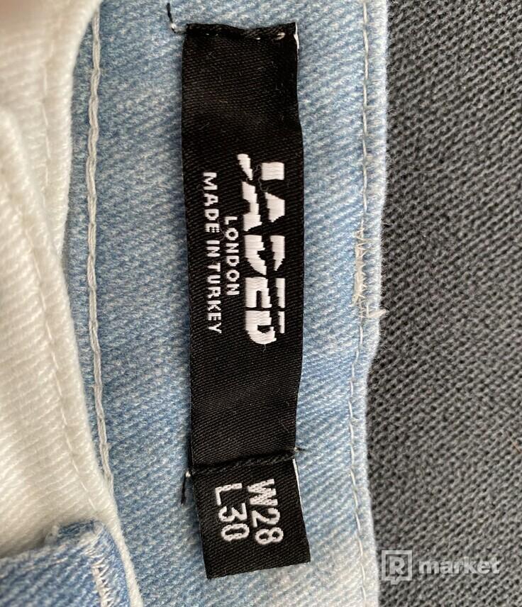 Jaded london printed jeans