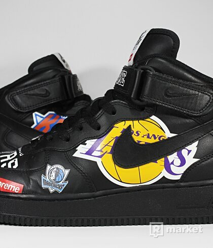 """Nike Air Force 1 Mid x Supreme """"NBA Black"""""""