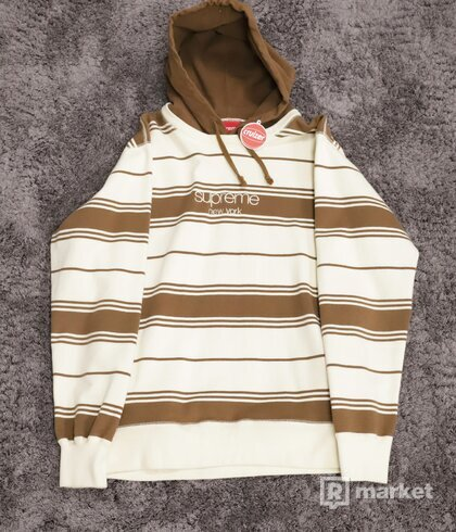 Supreme Striped Pullover Crewneck Brown