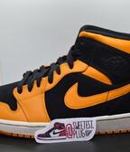 Air Jordan 1 Mid Black Orange Peel