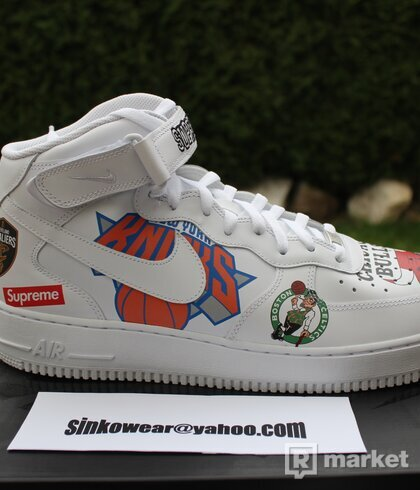 NIKE AIR FORCE 1 SUPREME NBA