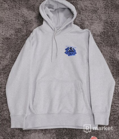 Palace Getting Higher Hoodie Grey