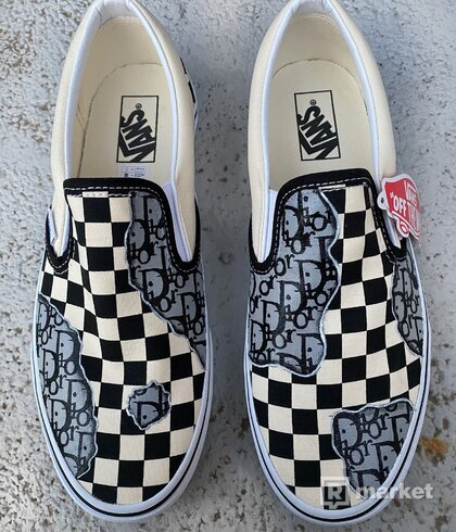 Dior custom Vans slip on