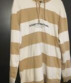 stussy striped hoodie