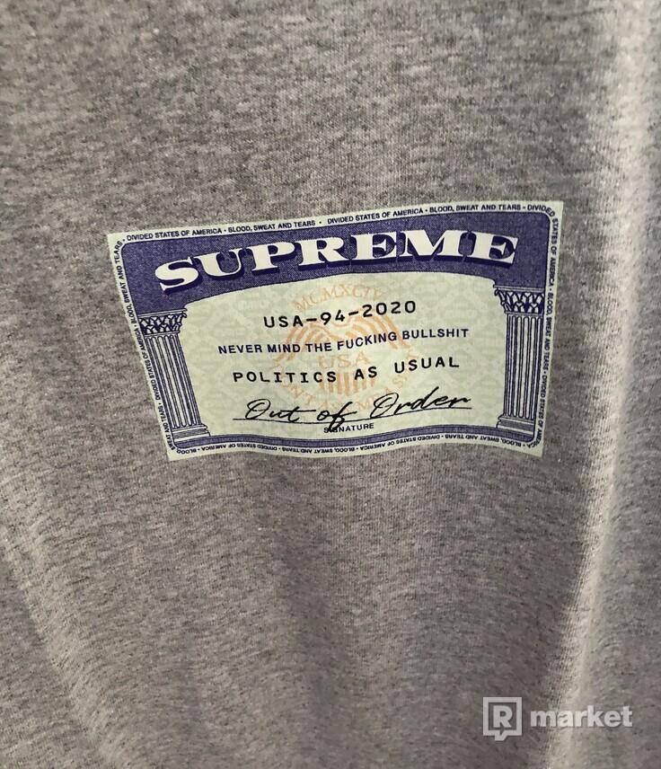 Supreme S/s20 Social tee