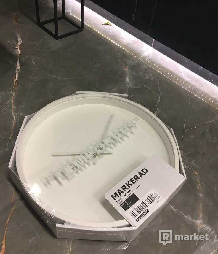 "VIRGIL ABLOH X IKEA MARKERAD ""TEMPORARY"" WALL CLOCK"