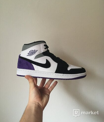 Jordan 1 Mid Union Purple [41,42,42.5]