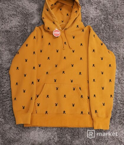 Supreme x Playboy Hoodie Brown