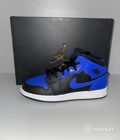 Air Jordan 1 Mid Blue Royal 39