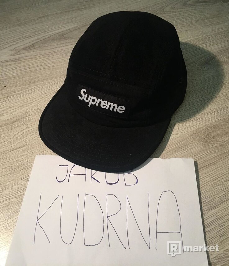 Supreme Suede Camp Cap (black)