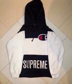 Supreme X Champion Hooded Sweatshirt Black