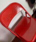 Supreme metal Folding chair red