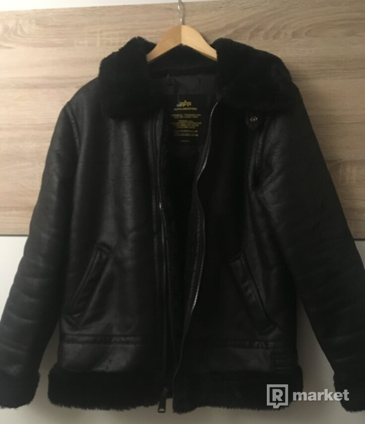 Alpha Industries kožená bunda S