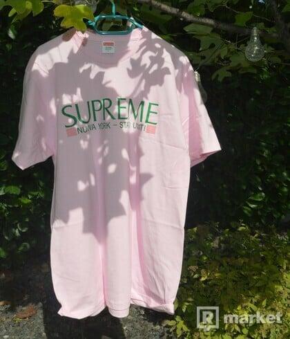 Supreme Nuova York Tee Pink