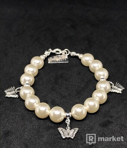 Swarovski perlový náramok