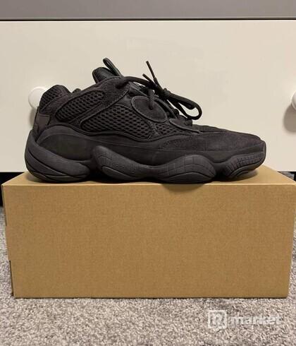 ADIDAS YEEZY 500 BLACK (2018) size 41 1/3 - US 8