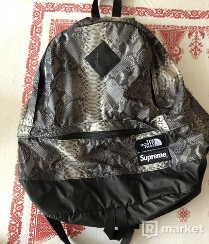 Supreme The North Face Snakeskin Black Backpack