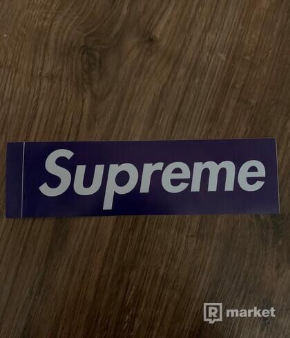 Supreme Box Logo Sticker Purple