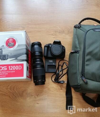Canon EOS 1200D, 2 objektívy + zadarmo fotobatoh