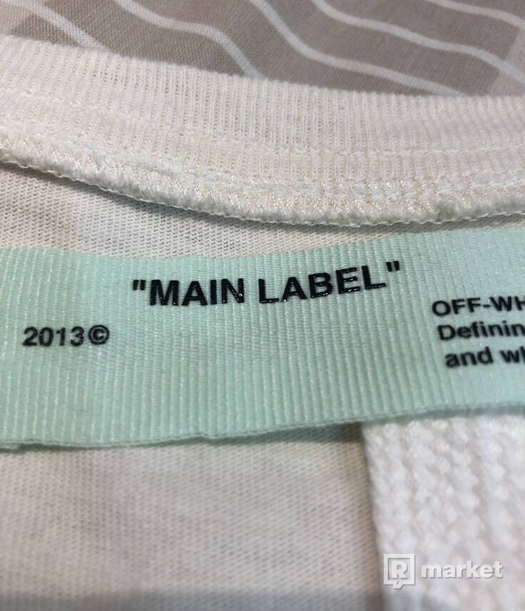 Off White Multicolour Arrows SS19 White Tee