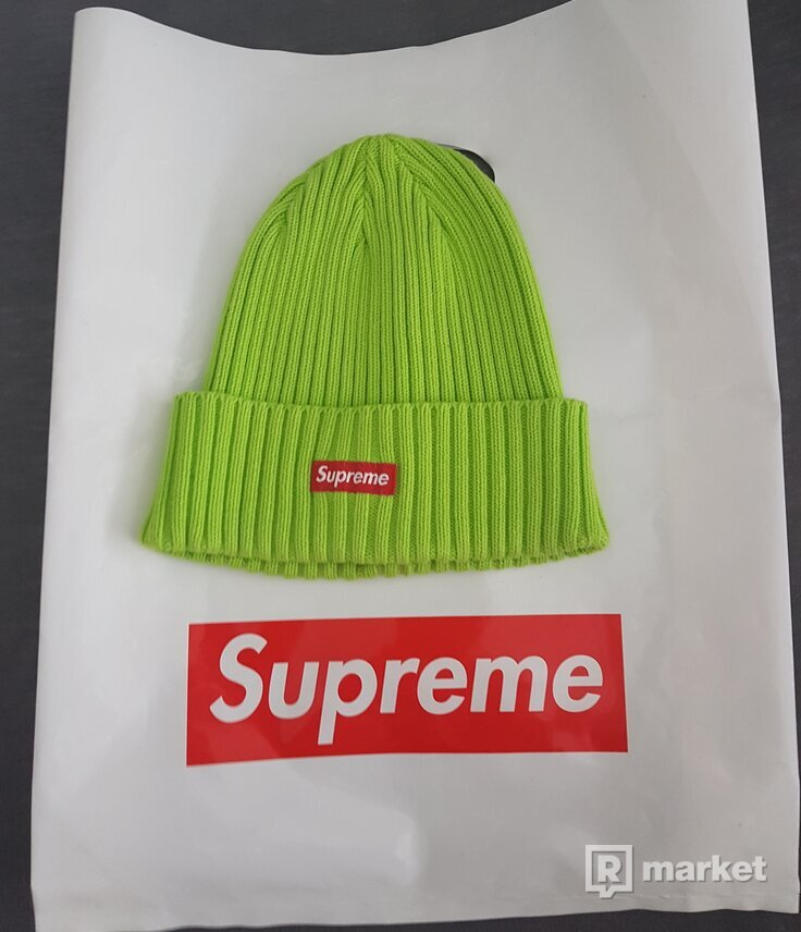 Supreme Overdyed Beanie Lime Green