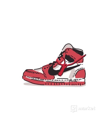 Nike Off White Air Jordan Print