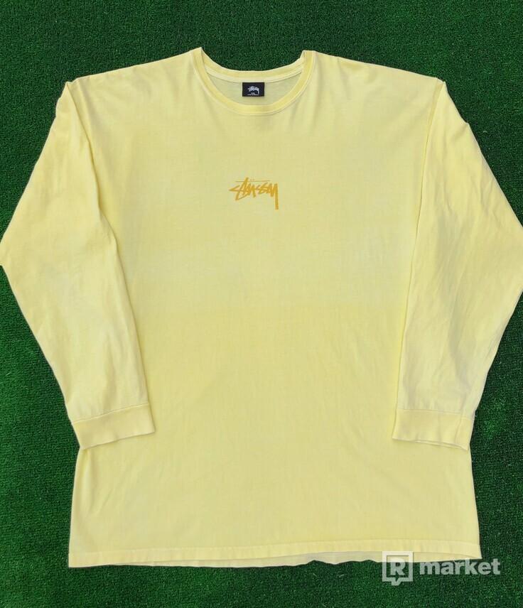 Stüssy Longsleeve (Pale Yellow)