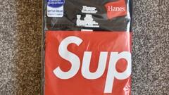 Supreme Hanes Tee Black / White