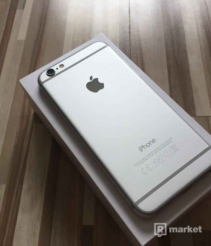 Apple Iphone 6 128gb Silver-- TOP STAV