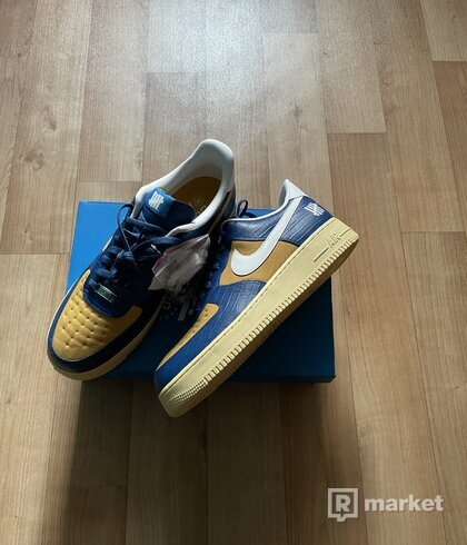Nike Air Force 1 Low SP Undefeated 5 On It Blue Yellow Croc 47.5